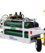 4 Bottle Dual Oxygen-Nitrogen Service Cart
